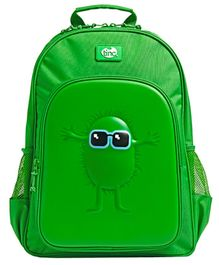 Tinc Hugga Character School Bag Green - 18 inches