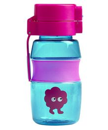 Tiny Tinc Flip and Clip Water Bottle Blue - 400 ml