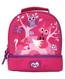 Tinc Woodland Design Lunch Bag - Pink