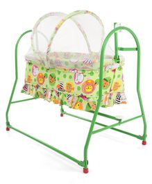 Mothertouch Italio Cradle Animal Print - Green