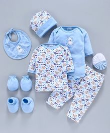 Montaly Infant Clothing Gift Set Pack of 9 - Blue