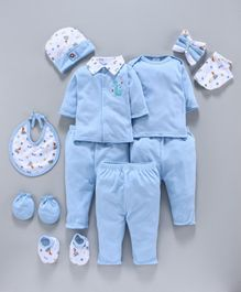 Montaly Infant Clothing Gift Set Pack of 13 - Blue