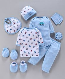 Montaly Infant Clothing Gift Set Pack of 10 - Blue