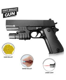NHR Gun With Water and Soft Bullet - Black