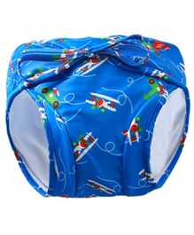 Kookie Kids Swim Diaper Plane Print - Blue