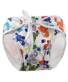 Kookie Kids Swim Diaper Dino Print - White