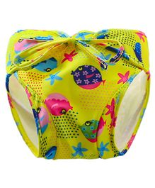 Kookie Kids Swim Diaper Fish Print - Green