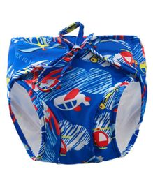 Kookie Kids Swim Diaper Helicopter Print - Blue