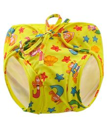 Kookie Kids Swim Diaper Mermaid Print - Yellow