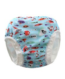 Kookie Kids Swim Diaper Fish Print - Blue
