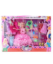 Fashion Dolls Set With Accessories 25 Pieces - (Color & Design May Vary)