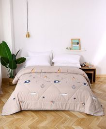 Urban Dream Comforter Animal Print - Beige