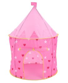 Star Printed Play Tent Pink - Height 128 cm