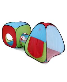 Portable Kid's Play Tent House With Tunnel - Multicolour