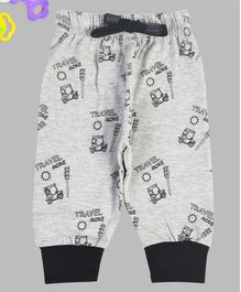 Crazy Penguin Vehicle Print Full length Lounge Pants - Grey