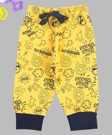Crazy Penguin Super Star Full Length Lounge Pants - Yellow