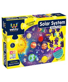 Webby Jigsaw Floor Puzzle With Flash Card Solar System Purple - 60 Pieces