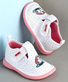 Cute Walk by Babyhug Canvas Shoes Unicorn Embroidery - White