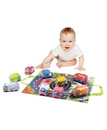 Syga Play Mat With Foam Cars Pack of 9 - Multicolor