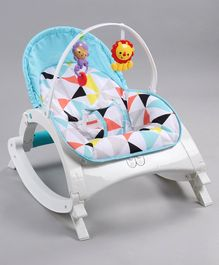 Baby Bouncer cum Rocker with Hanging Toys - Blue
