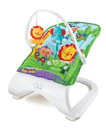 Baby Bouncer with Toy Bar - Multicolor