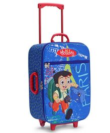 Chhota Bheem Kids Luggage Trolley Bag - Blue
