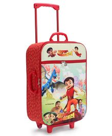 Chhota Bheem Trolley Luggage Bag - Red
