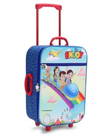 Chhota Bheem Kids Luggage Trolley Bag Blue - Red