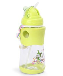 Sipper Water Bottle With Strap Green - 500 ml