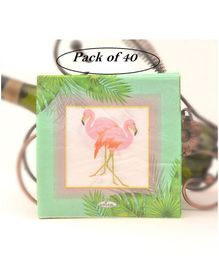 Party Anthem Flamingo Paper Napkins Green - Set of 40 Napkins