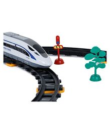 Webby Remote Control Train Track Set With Sound - White