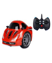 Webby Remote Control Rechargeable 360 Degree Twist Stunt Car With Light & Music - Red