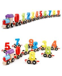 Webby Wooden Educational Numbers Train Set - Multicolor