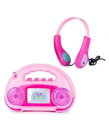 Webby Musical Radio With Light & Headphone - Pink