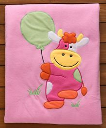 Soft & Comfortable Baby Blanket Sheep Patch - Pink