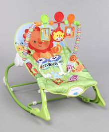 Baby Rocker With Calming Vibration - Green & Multicolor