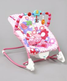 Battery Operated Musical & Portable Baby Rocker - Pink