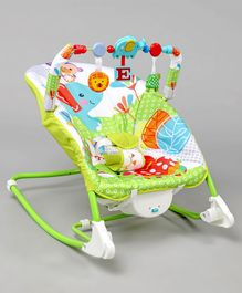 Dulex Infant To Toddler Musical Baby Rocker Chair - Green