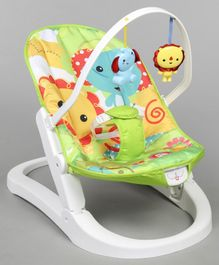 Baby Musical Rocker With Hanging Toys - Multi Colour