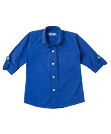 Kid Studio Long Sleeves Solid Button Down Shirt - Royal Blue
