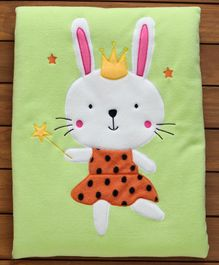 Sherin Blanket With Doll Embroidered - Green