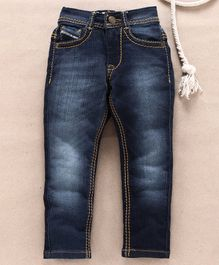 Sodacan Solid Full Length Denim Jeans - Blue