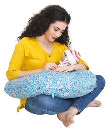 Nene Printed Nursing Pillow - Blue