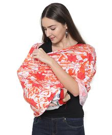 Lulamom 360 Degree Full Coverage Poncho Style Nursing Cover - Pink