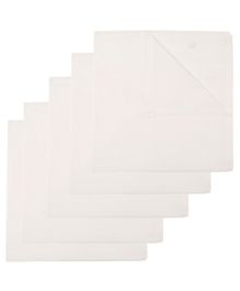Lula Soft Cotton Nappies Pack Of 5 - White