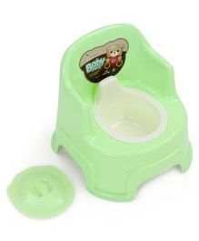 Potty Seat With Removable Bowl & Lid - Green