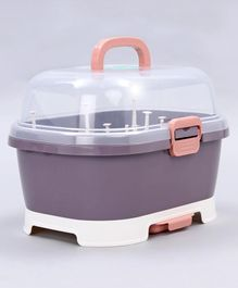 2 in 1 Baby Bottle Drying Rack With Storage Box - Purple