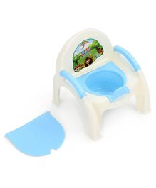 Potty Chair With Removable Bowl & Lid - Blue