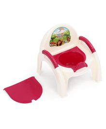 Potty Chair With Removable Bowl & Lid - Dark Pink