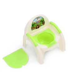 Potty Chair With Removable Bowl & Lid - Green